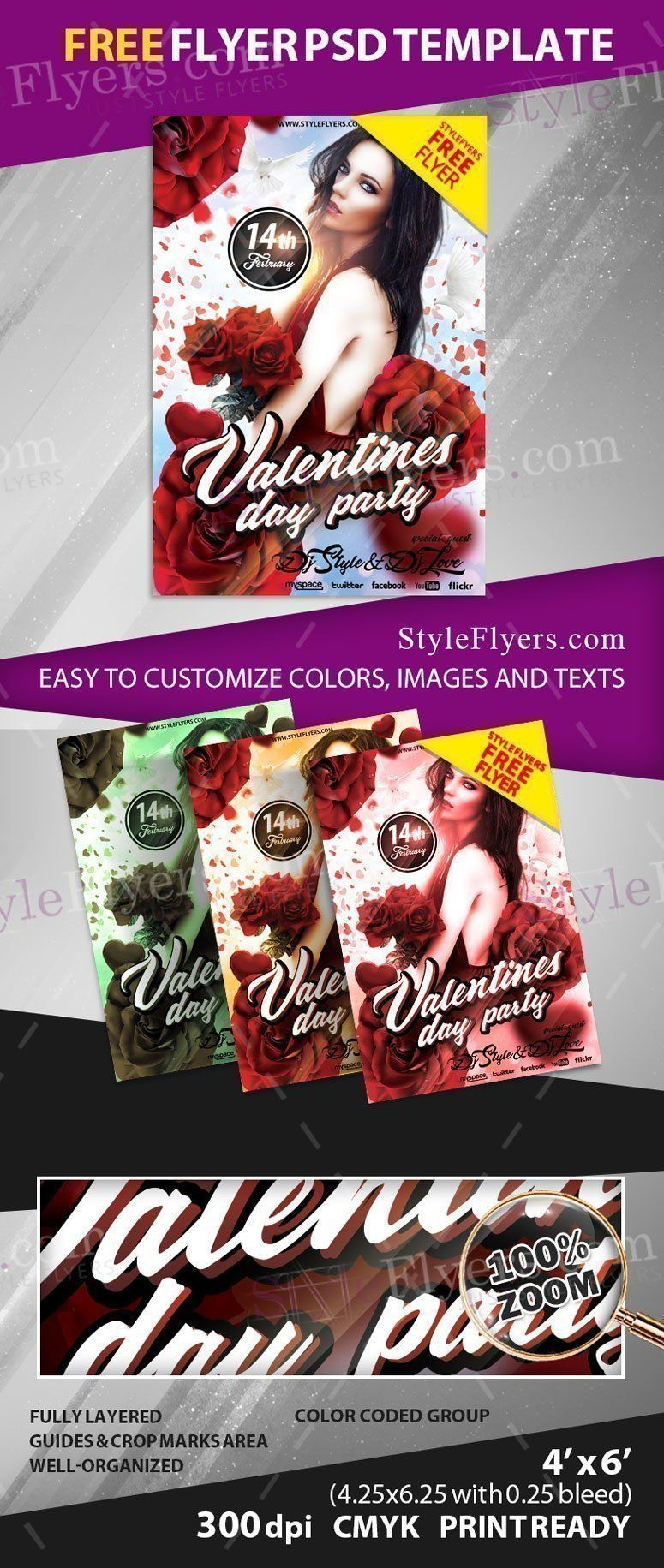 Valentine's Day FREE PSD Flyer Template Free Download 22552