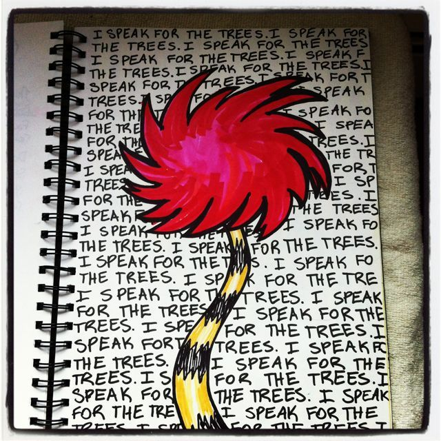 truffula tree sharpie art by amy bowerman of
