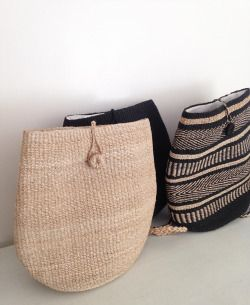 Malinao Handwoven Backpacks in light, dark, and both! Gets better with age. | Shop them online at www.abacastore.com #abacastore