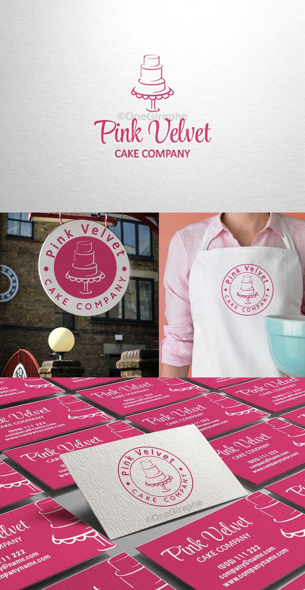 brandidentity logo logodesign bakery cake cupcake pink pink