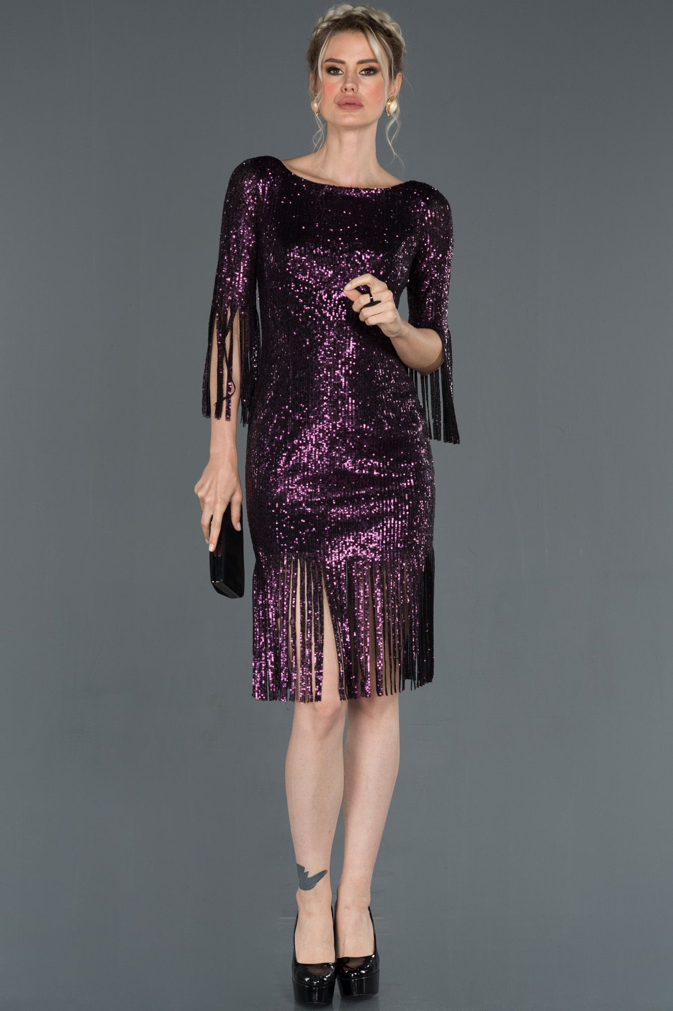 Murdum Kisa Puskullu Pul Payetli Davet Elbisesi Abk670 2020 Moda Stilleri Elbise Elbise Modelleri