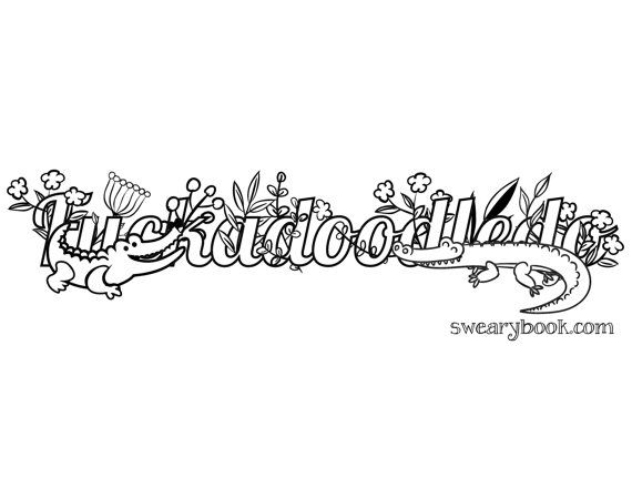 Fuckadoodledo Swear Words Coloring Page From The By Swearybook