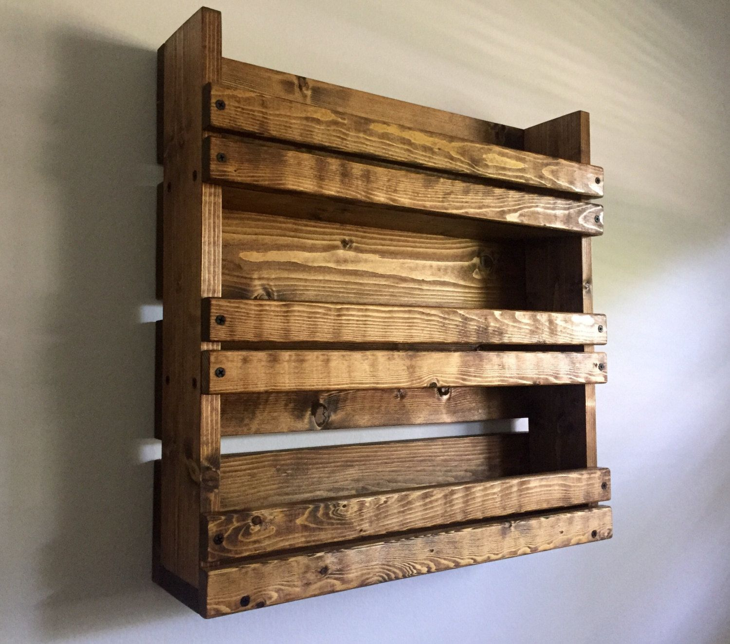 Wood Spice Rack For Wall Magnificent Spice Rack Rustic Spice Rack With 3 Shelves Kitchen Organizer Inspiration