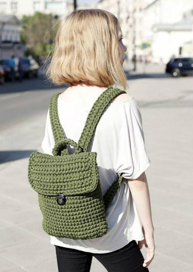 Como Fazer Mochila de Crochê: 35 Modelos Lindos + Passo a Passo | Revista Artesanato – Bolsa de moda