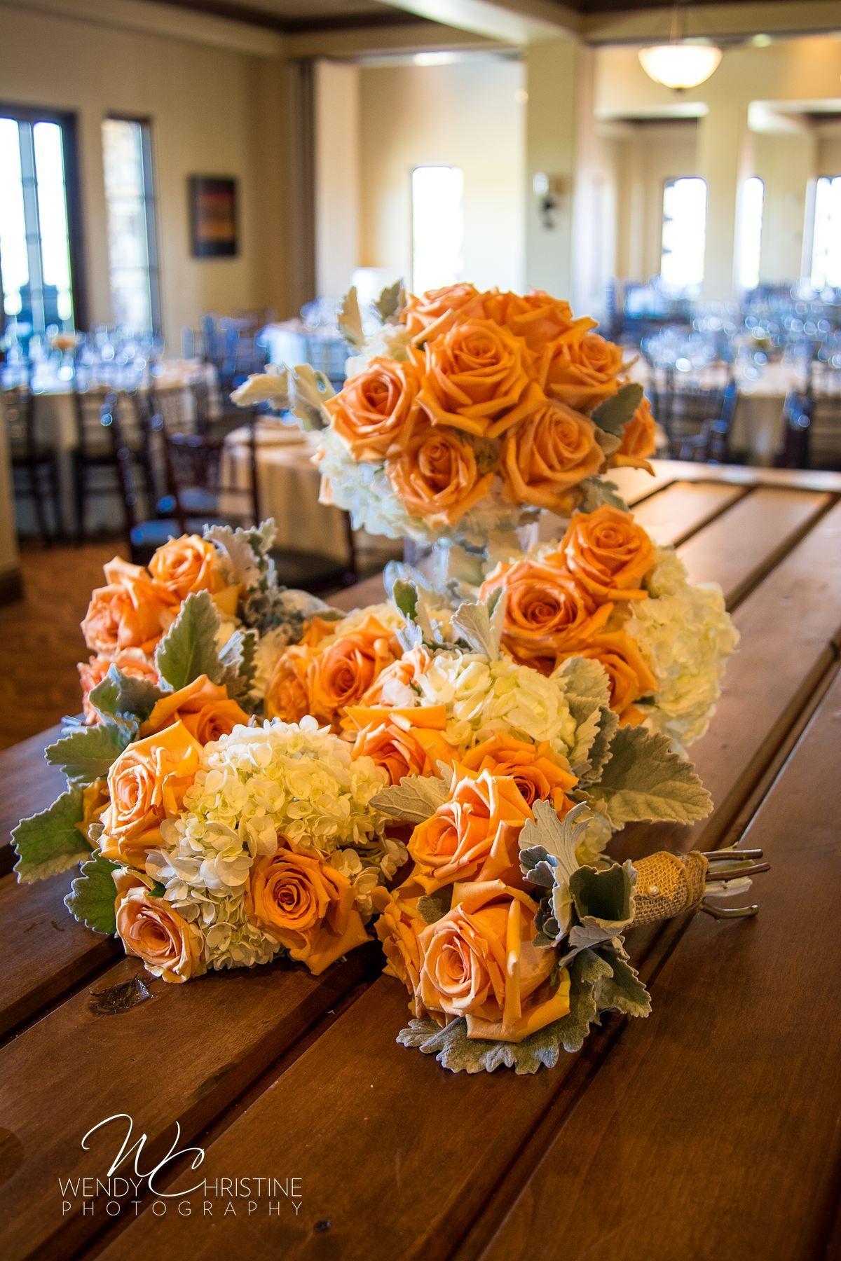 Heather & Zack's Wedding at Aliso VIejo Country Club #Peach #Bridal #Bouquet #OrangeCountyWedding #FarmTable #Peach&Teal #AlisoViejoCountryClub #WendyChristinePhotography