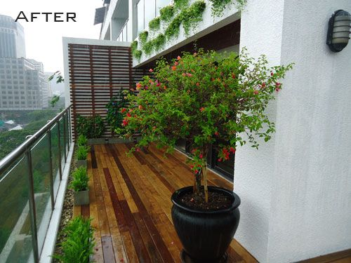 Modern Apartment Balcony Garden Ideas For Small Spaces With Wooden Flooring