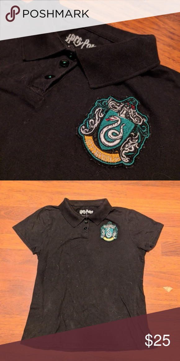 244f2b6c9d Harry Potter Slytherin Crest Patch Polo For Sale  Hot Topic