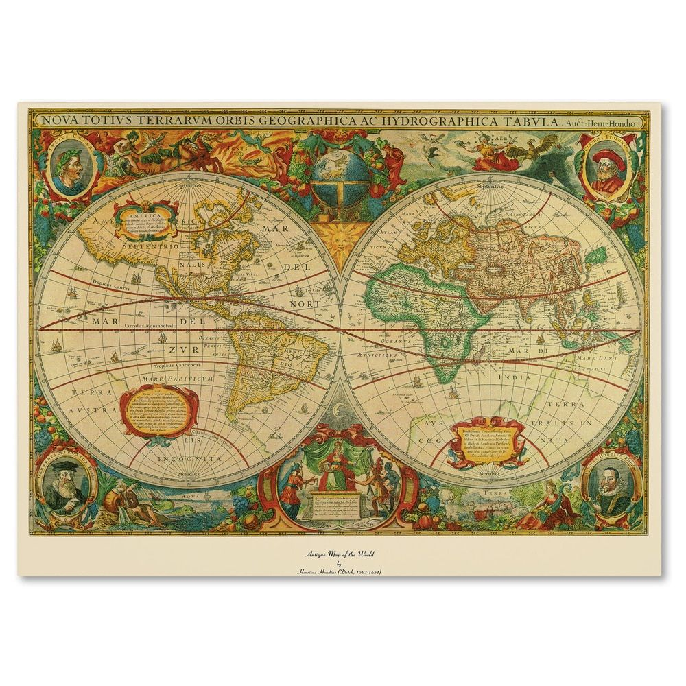 Old world map painting on canvas free shipping today overstock old world map painting on canvas free shipping today overstock 11029969 gumiabroncs Image collections