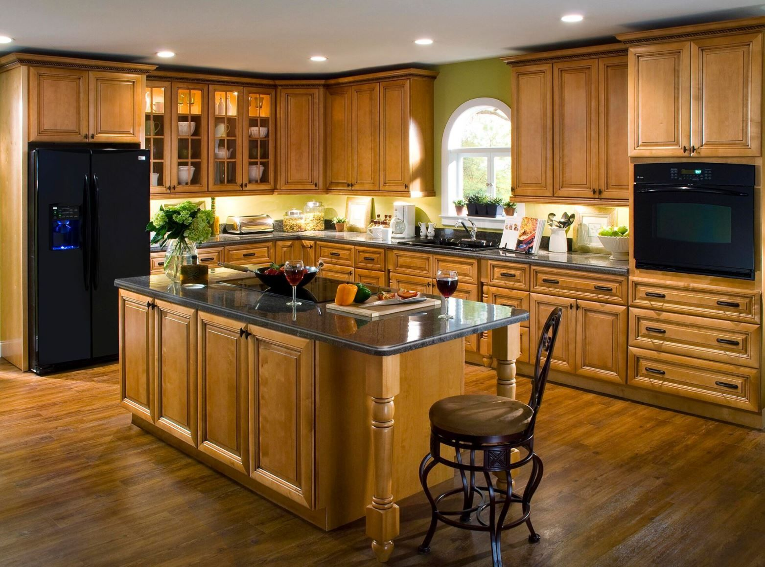 Create Customize Your Kitchen Cabinets Lewiston Cabinet Accessories In Toffee Glaze The Home Depot