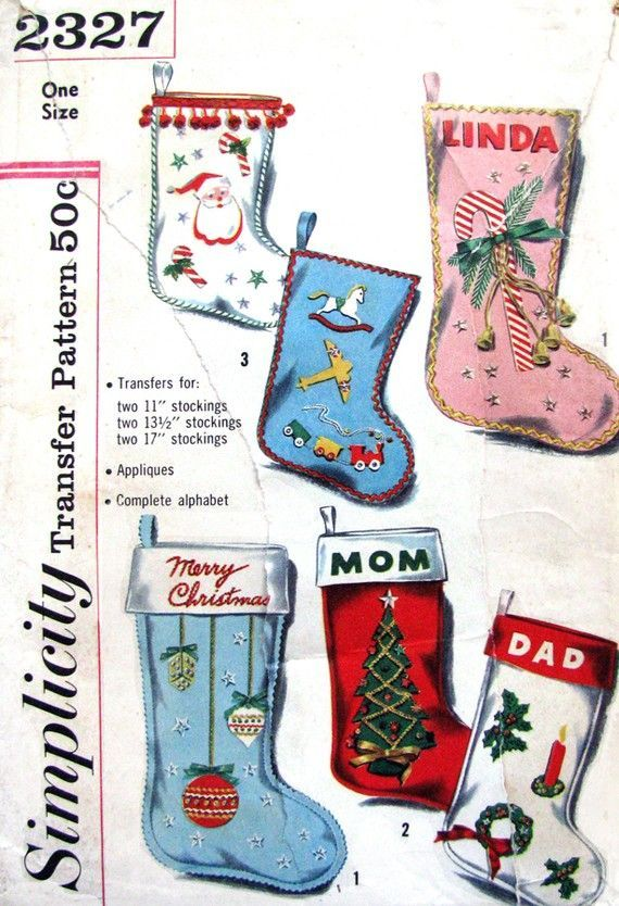 christmas sewing patterns Vintage