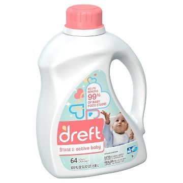 image about Dreft Printable Coupons identify Dreft Level 2: Fast paced Child HEC Liquid Laundry Detergent 100