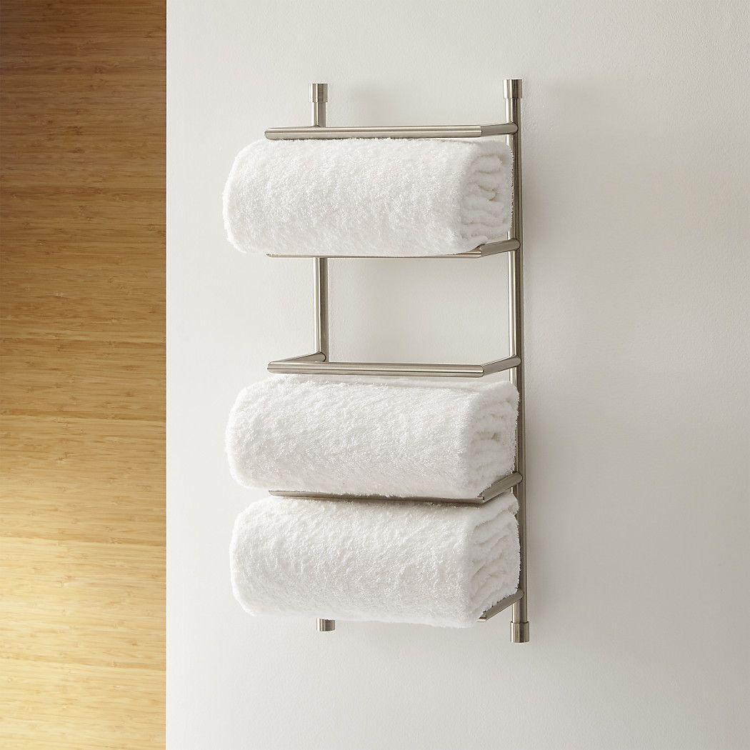 41++ Bathroom wall towel rack ideas