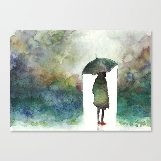 rainbow canvas print  aquarellmalerei aquarelllmalerei