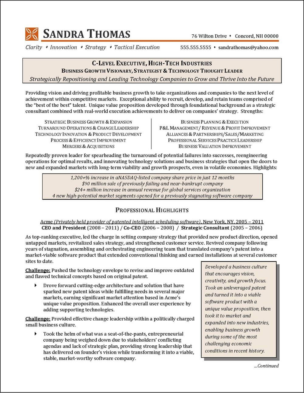 National Award Winning Executive Resume Examples Executive Cover Letter Examples Infographic Resume Exa Executive Resume Resume Examples Good Resume Examples