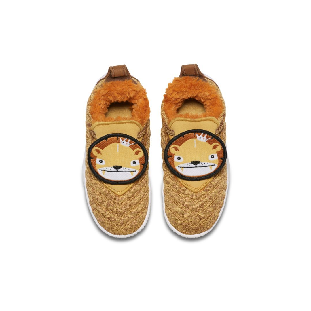 d68ea380da54 LeBron 16 Little Big Cats Infant Toddler Shoe Size 3C (Wheat Gold)