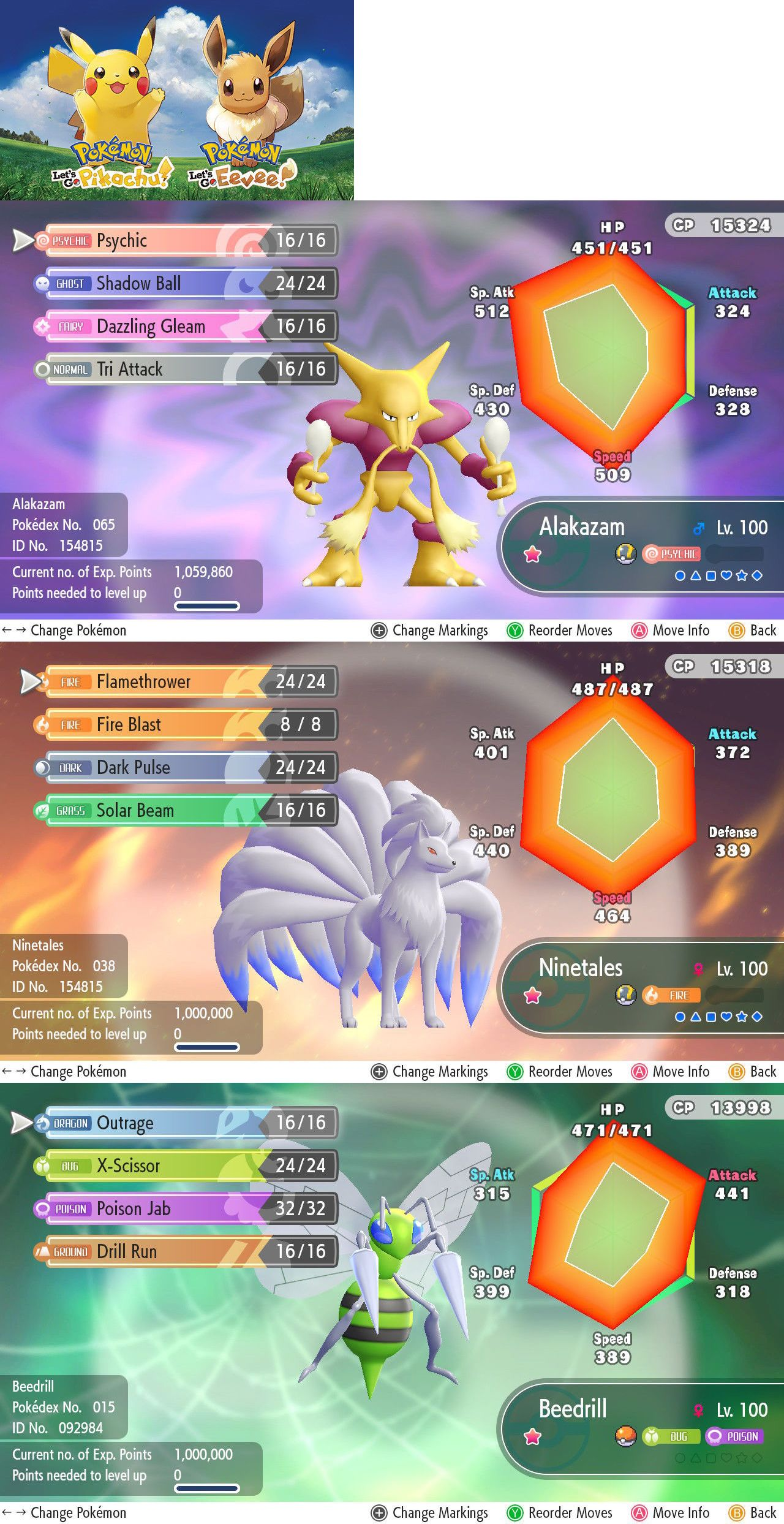 Strategy Guides and Cheats 156595: Pokemon Let S Go Max 6Iv Av 6