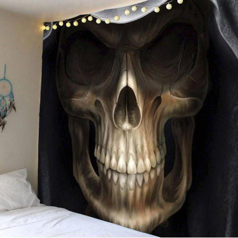 Home Decor Horror Skull Print Wall Art Tapestry Skull print