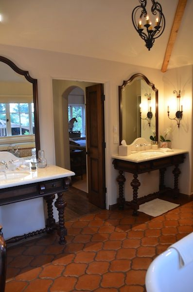 At Bathroom Vanity Design Spanish Style Bathrooms Spanish