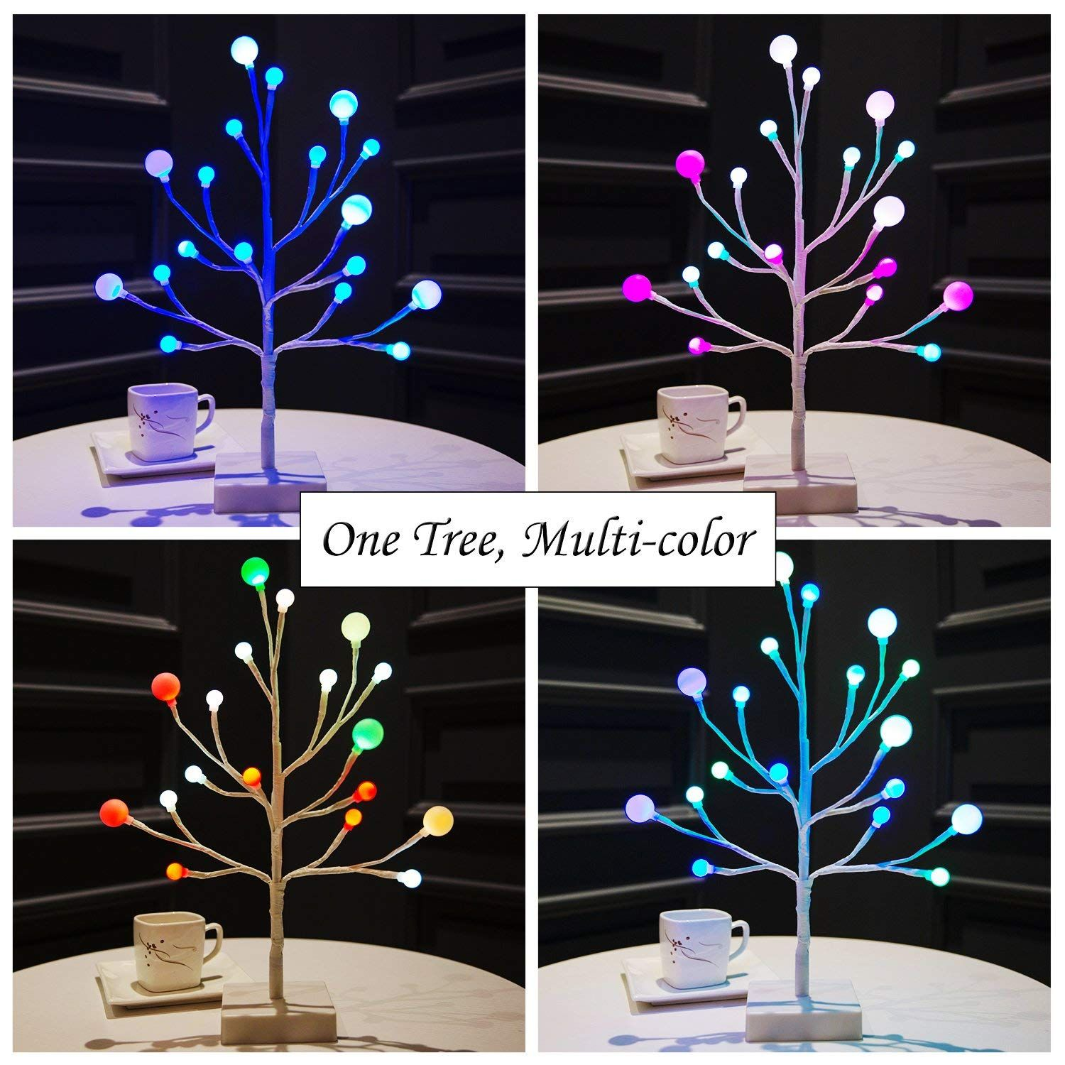 Bolylight Led Tree Multi Color Frosted Ball Light Table Lamp Night Light Great Decoration For Home Christ Ball Lights Light Table Christmas Hanging Decorations