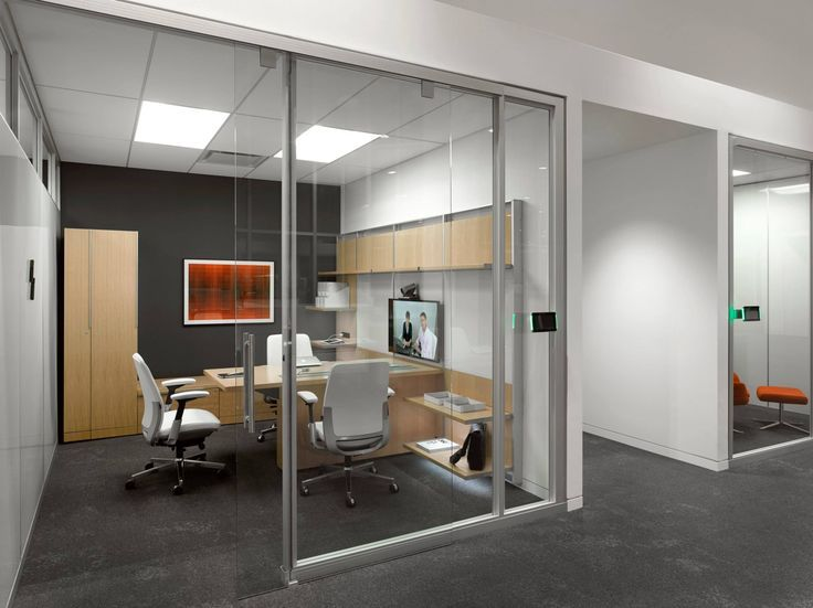 private office design. Steelcase - Private Office Light Wood Furniture Dark Accent Wall And Carpet Design O