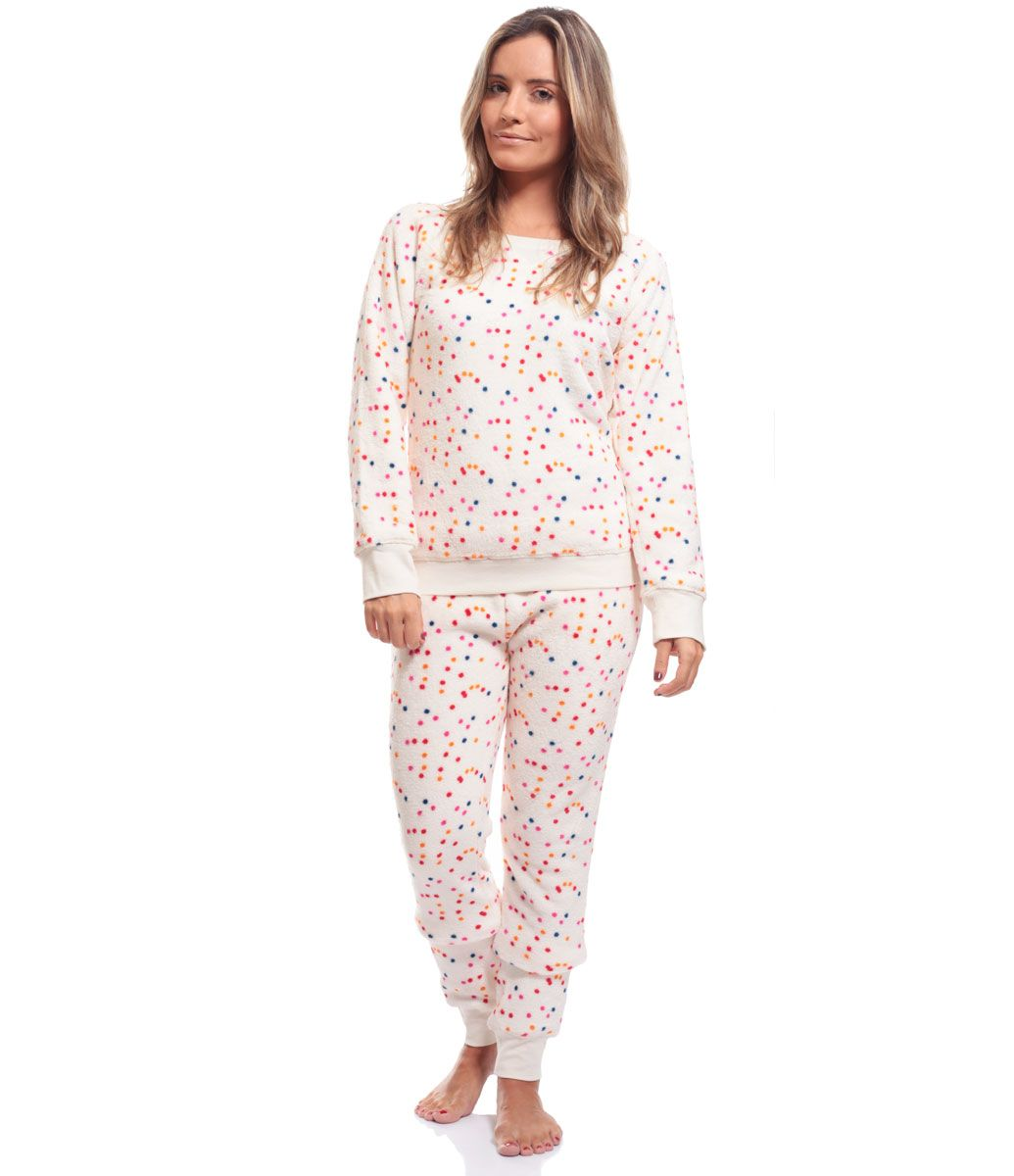 0f9a4e317 Pijama Feminino Longo em Fleece - Lojas Renner | Pijama | Underwear ...