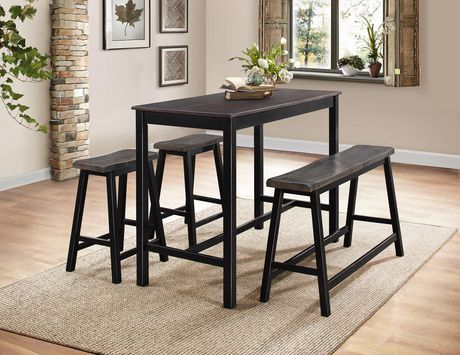 Topline Home Furnishings Visby 4 Pc Counter Height Dining Set