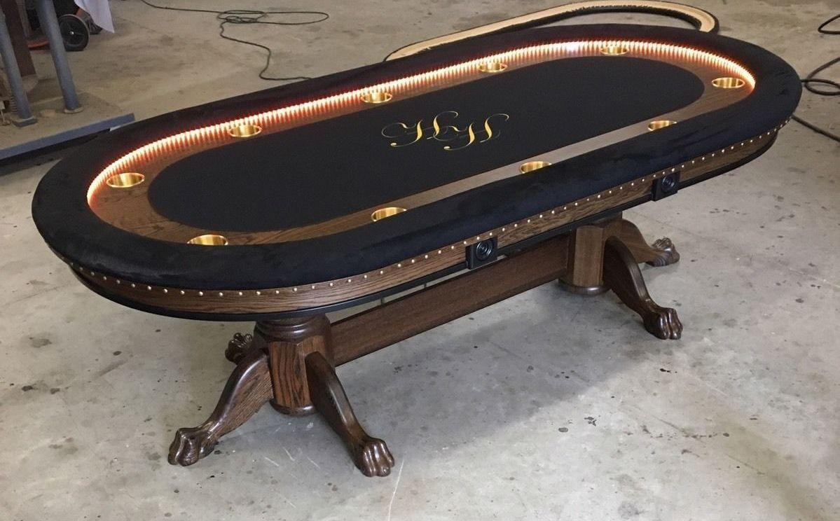 Poker room area rugs