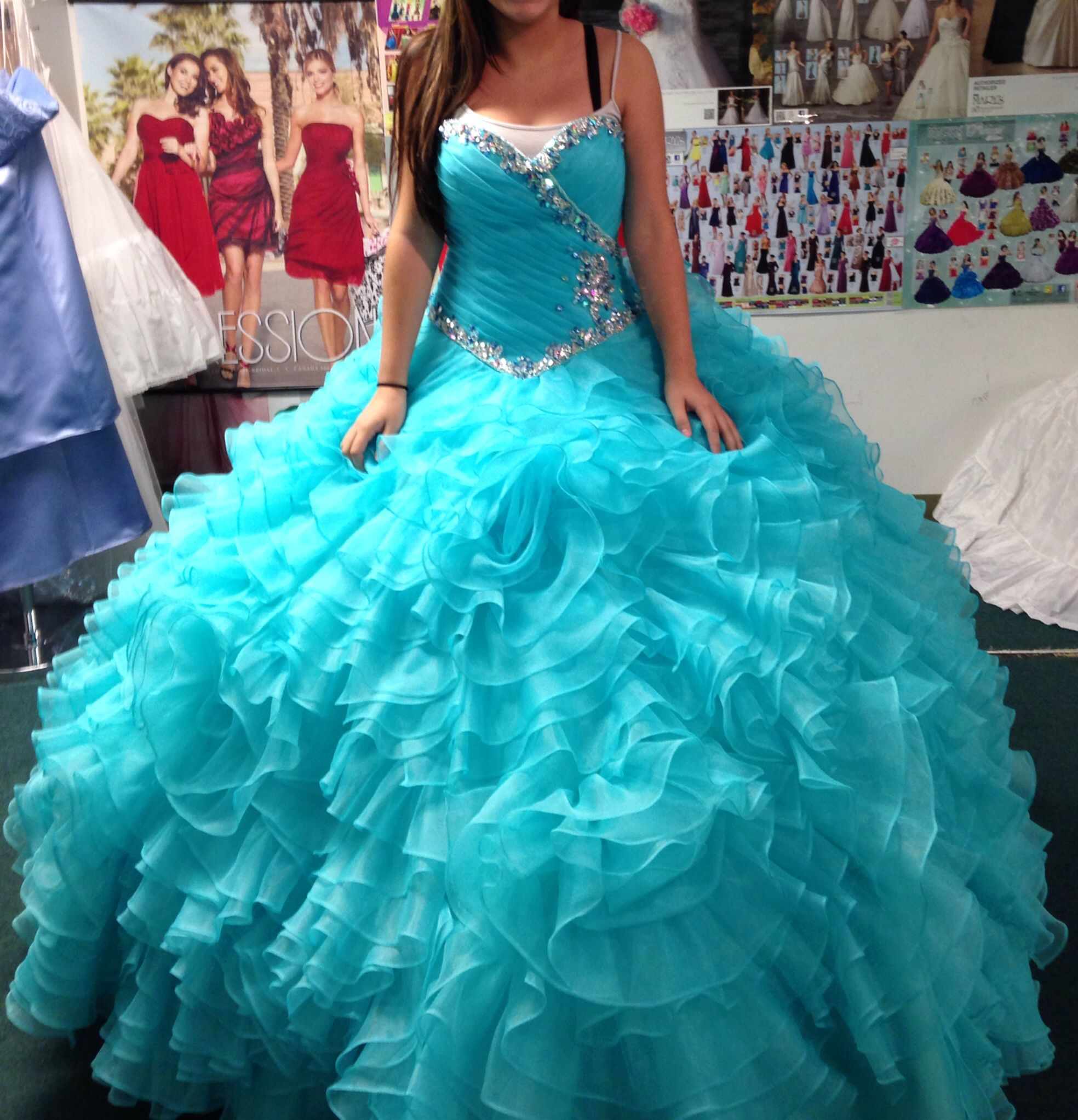 Aqua Quinceañera Dress ❤ From House of wedding In Chicago ...