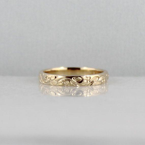 14k Yellow Gold Wedding Band Design Band Stacking Ring Etsy 14k Yellow Gold Wedding Band Yellow Gold Wedding Band Wedding Band Designs