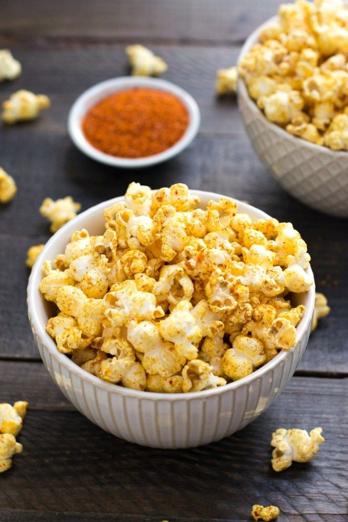 This sweet and spicy popcorn recipe is an addictively delicious whole grain snack. This healthy recipe couldn't be easier to make, and you can adapt the seasonings to suit your tastes.