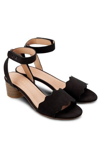 8e6710bbd79 Low Block Heel Sandals from ZALORA in black 4