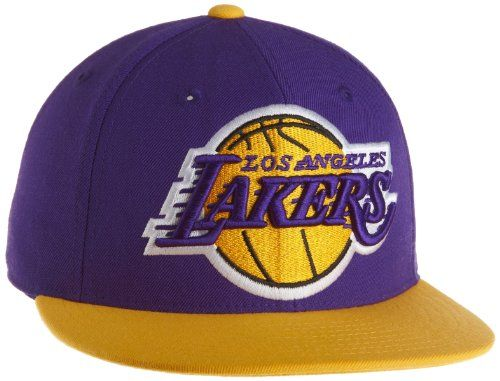 NBA Men s Los Angeles Lakers Flat Brim Fitted Hat - Tr02K 9bcbc0cfedc7
