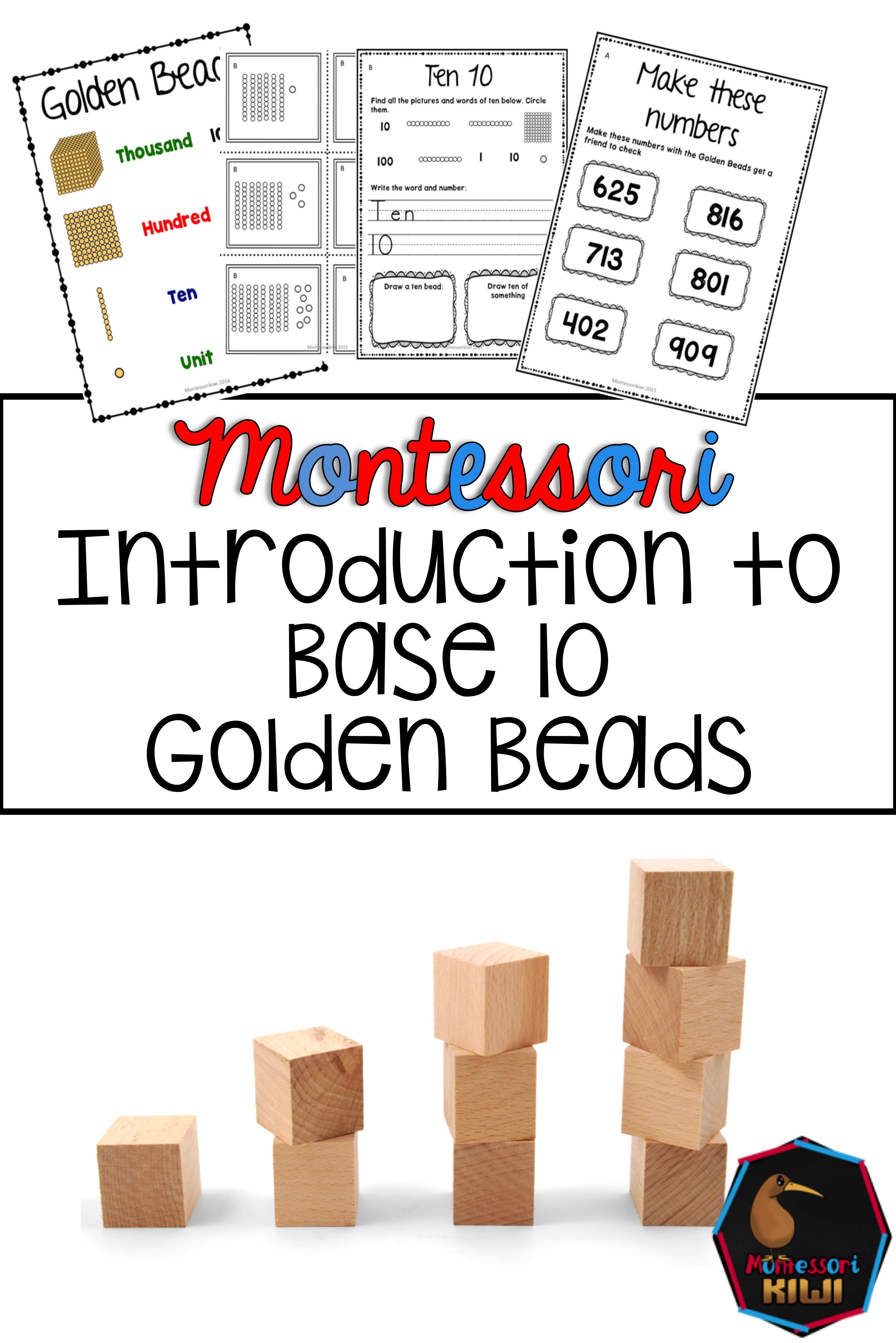 Introduction To Base 10 Introduction To Golden Beads