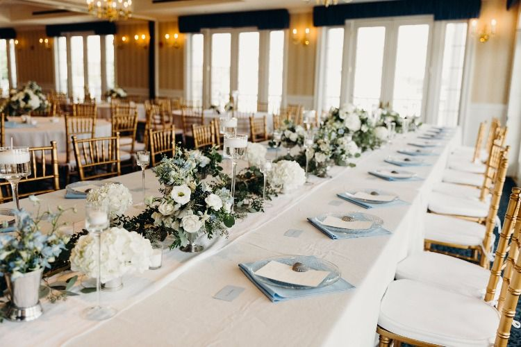 Table Blue And White Wedding Madison