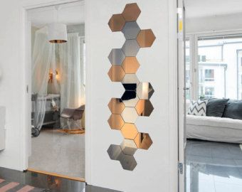 Image result for hexagonal mirror tiles | Декор стен дома ...