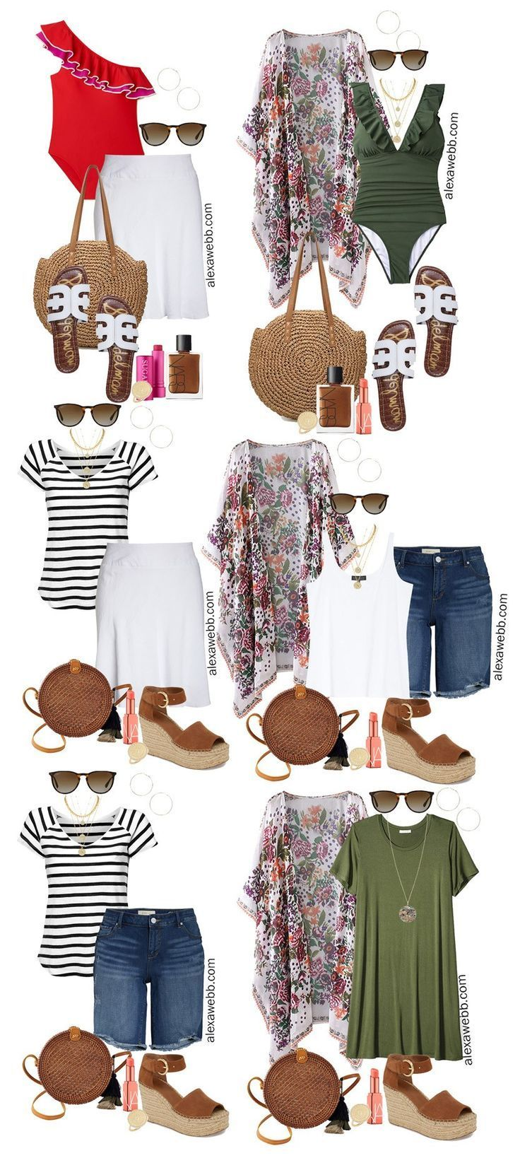 Plus Size Beach Vacation Outfits – Part 2 - Alexa Webb