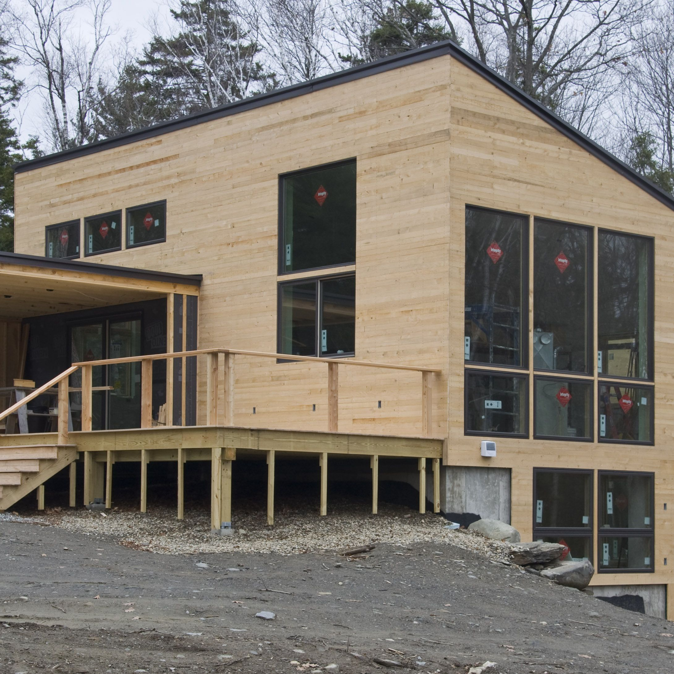 My Use Of Eastern Hemlock As A Siding Material Has Been Generating Interest Hemlock Is A Common Wood In Vermont B Facade Design House Exterior Exterior Siding