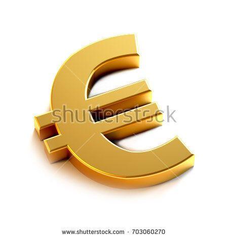 Euro Golden Symbol Render Ilration