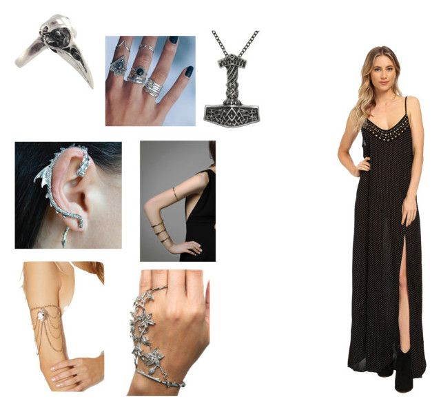 """""""Arja"""" by odinsdottir ❤ liked on Polyvore featuring Felina, Forever 21, Amuse Society and Carolina Glamour Collection"""