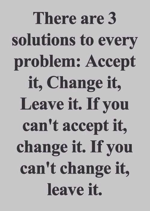 Three solutions to problems