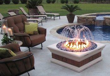 Gemini Overture Firepit Fountain Fire Pit Decor Rustic Fire