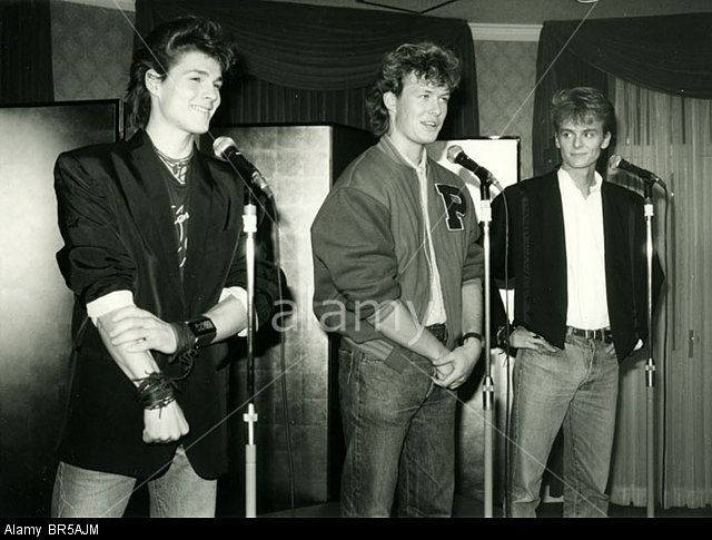 A Ha Pop Group In 1986 From Left Morten Harket Mags Furuholmen