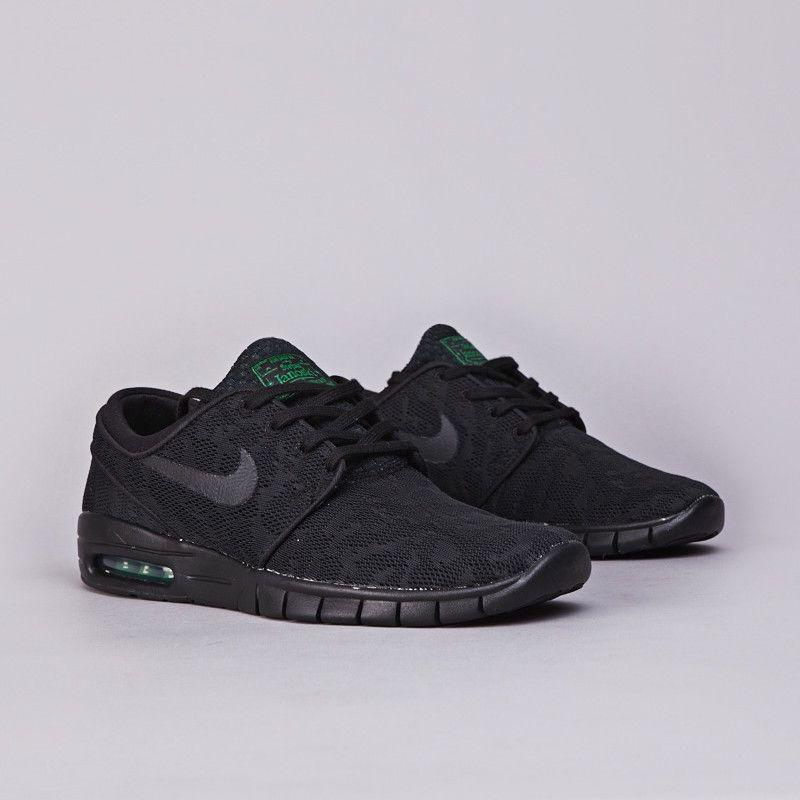 Flatspot - Nike SB Stefan Janoski Max Black / Black - Pine Green