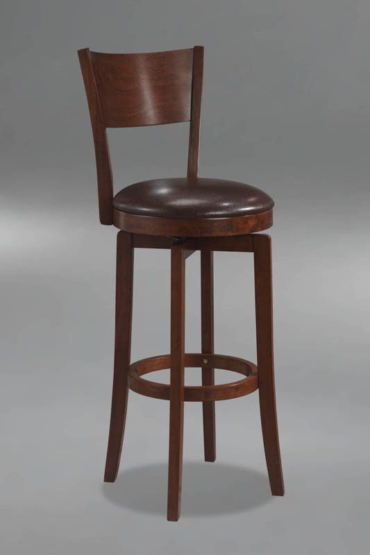 Hillsdale Planview Archer 24.5 Inch Swivel Counter Stool in Brown 4166-826