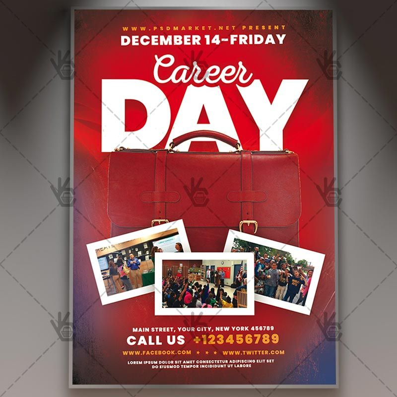 Download Career Day Flyer Psd Template Free And Premium Psd