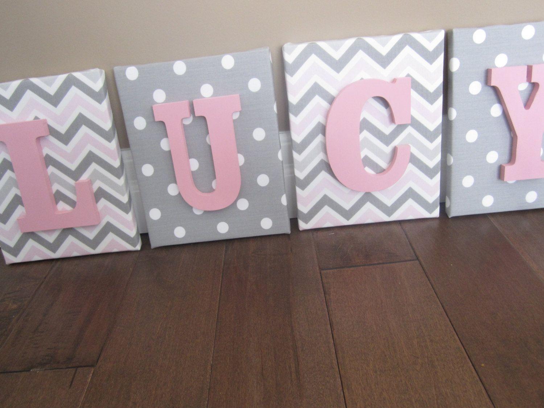 Wall Canvas Letters Nursery Decor