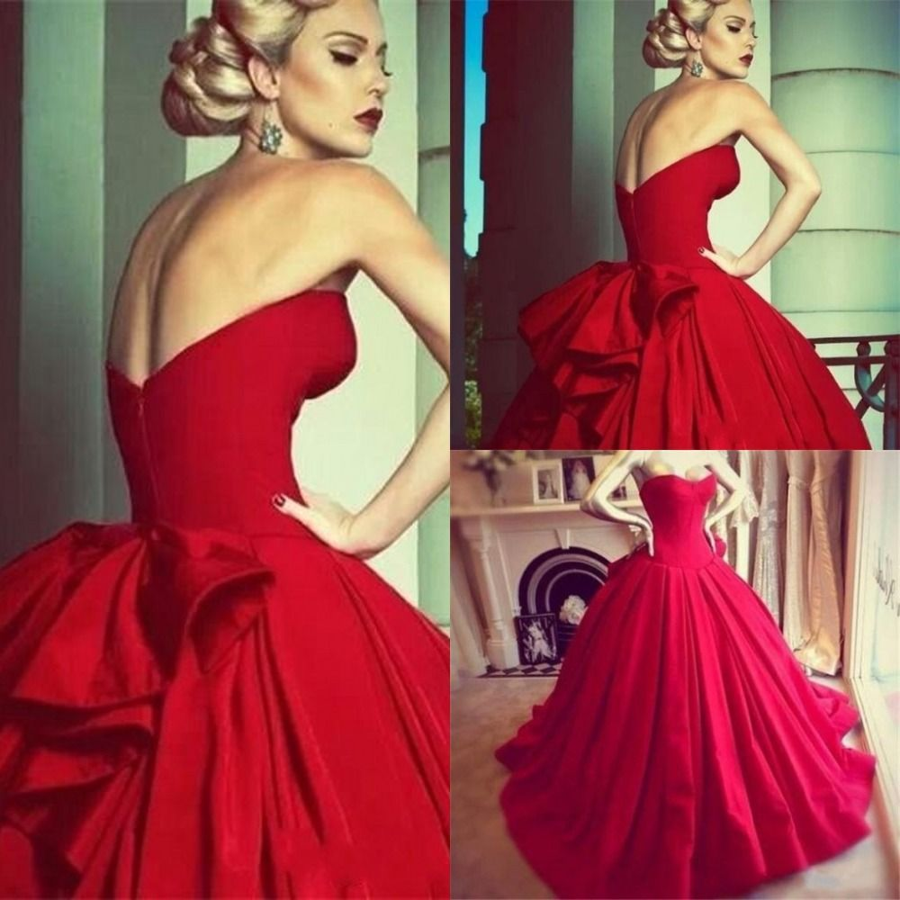 Free shipping buy best sweetheart sleeveless corset back ball gown