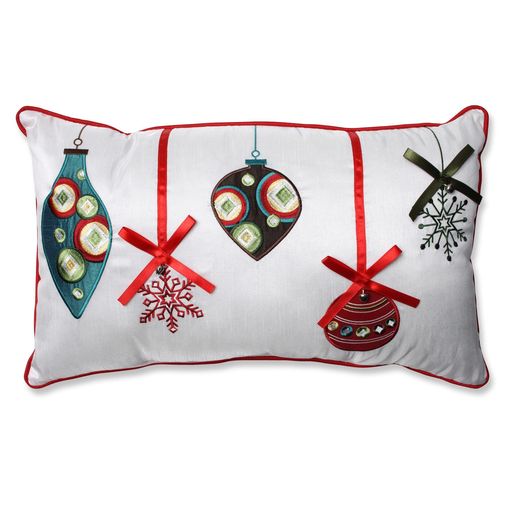 Pillow Perfect Holiday Ornaments Lumbar Pillow | AllModern