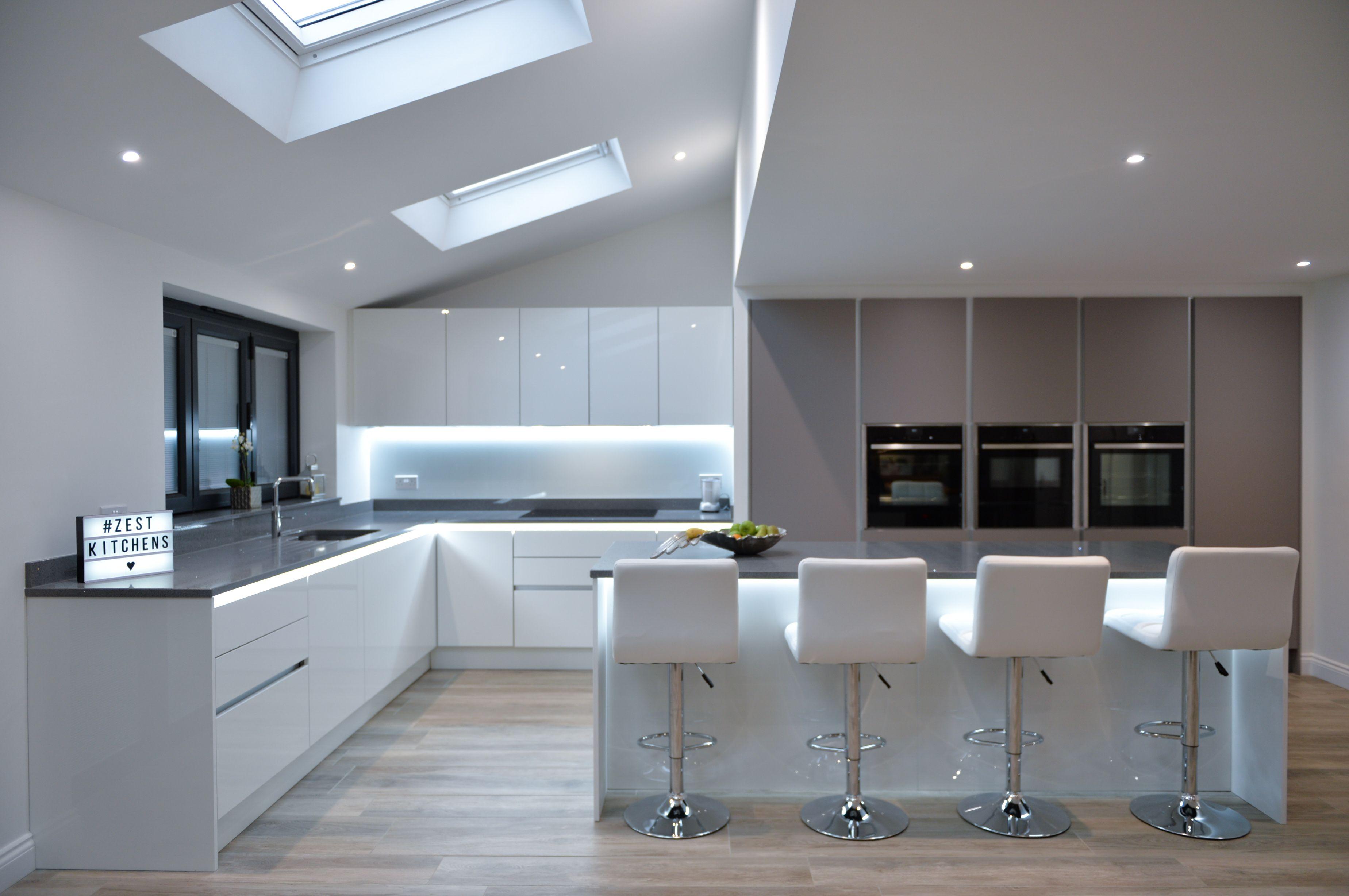 A stunning, ultra modern kitchen from Zest Kitchens Northampton. The ...