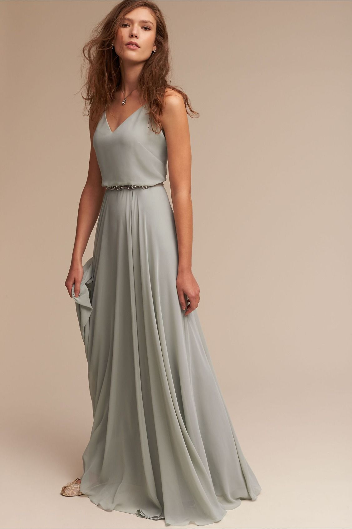 fresh  Inesse Dress in Morning Mist from BHLDN  silberhochzeit